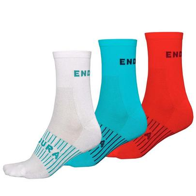 Endura Women's Coolmax Race Sock Triple Pack - Multi
