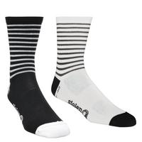 ThermoLite Crew Cut Cycling Socks - Black x White