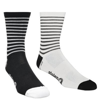 Stolen Goat ThermoLite Crew Cut Cycling Socks - Black x White