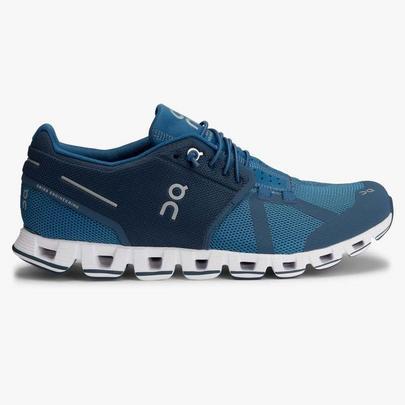 On Men's Cloud Running Shoes - Blue Denim