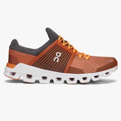On Men's Cloud Swift Running Shoe - Rust Rock