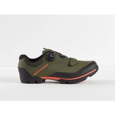 Bontrager Foray MTB Shoe - Olive Grey/Radioactive Orange