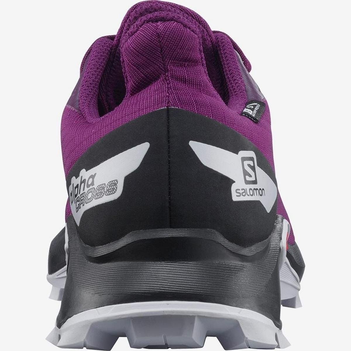 Salomon Kids' Alphacross Blast Climasalomon? Waterproof - Purple