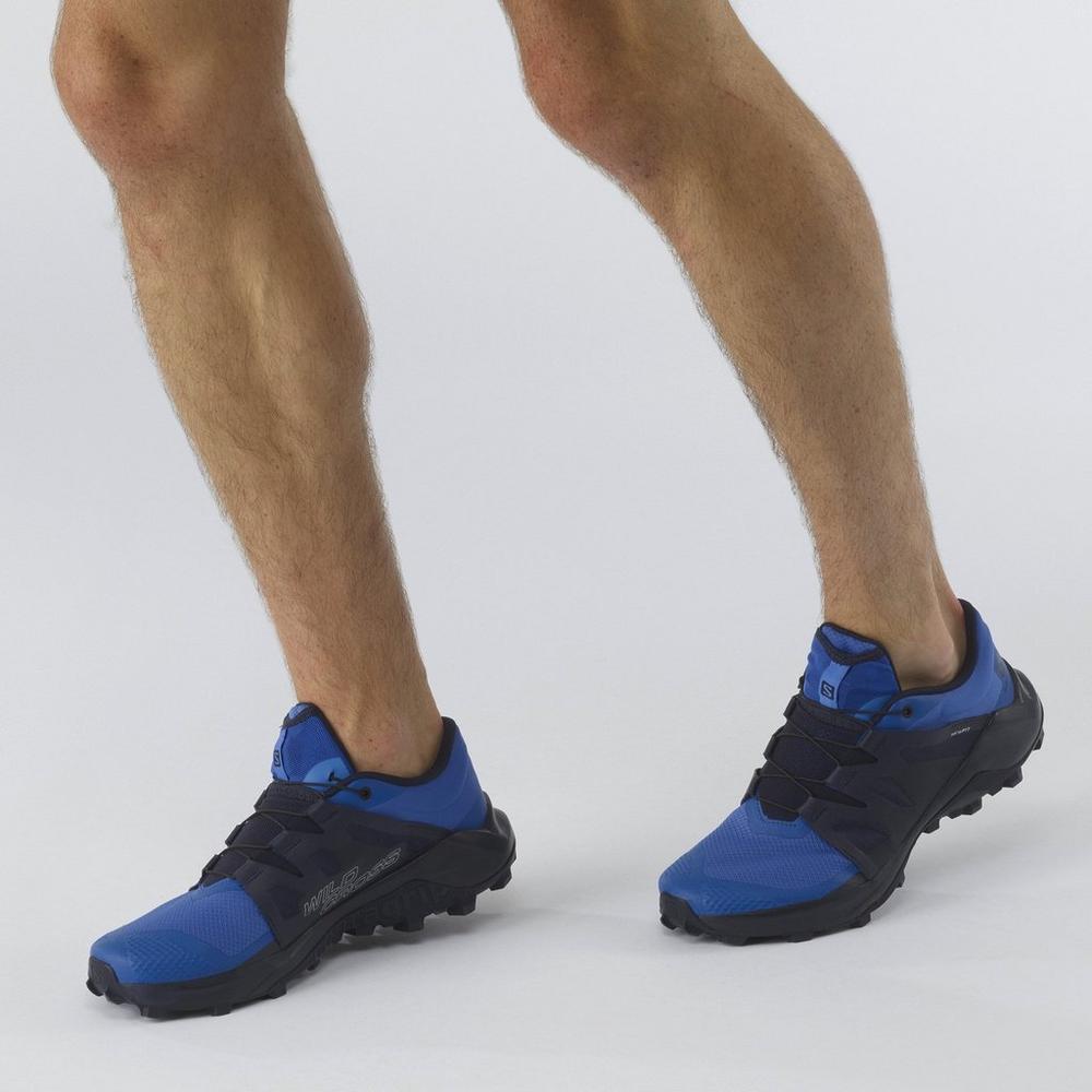 Salomon Men's Wildcross Trail Running Shoes - Palace Blue/ Night Sky