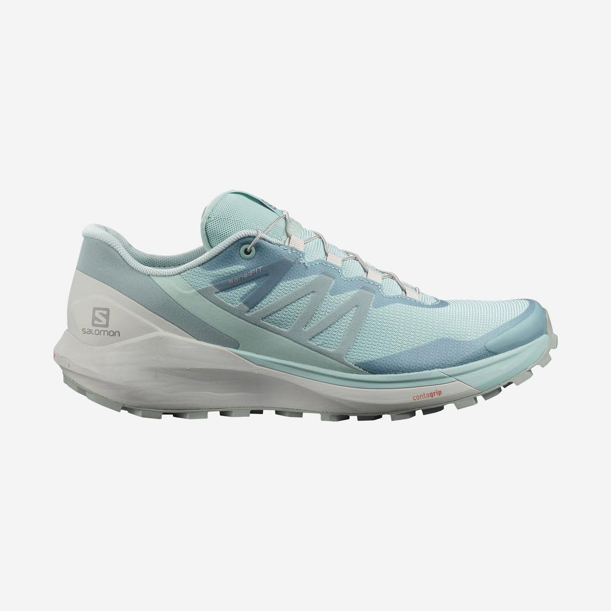 Salomon Women's Sense Ride 4 Trail Running Shoe - Pastel Turquoise/ Lunar Rock/ Slate