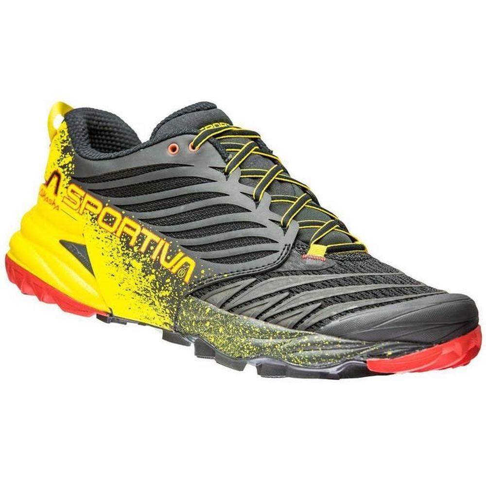 La Sportiva Men's Akasha Running Shoe - Black/Yellow