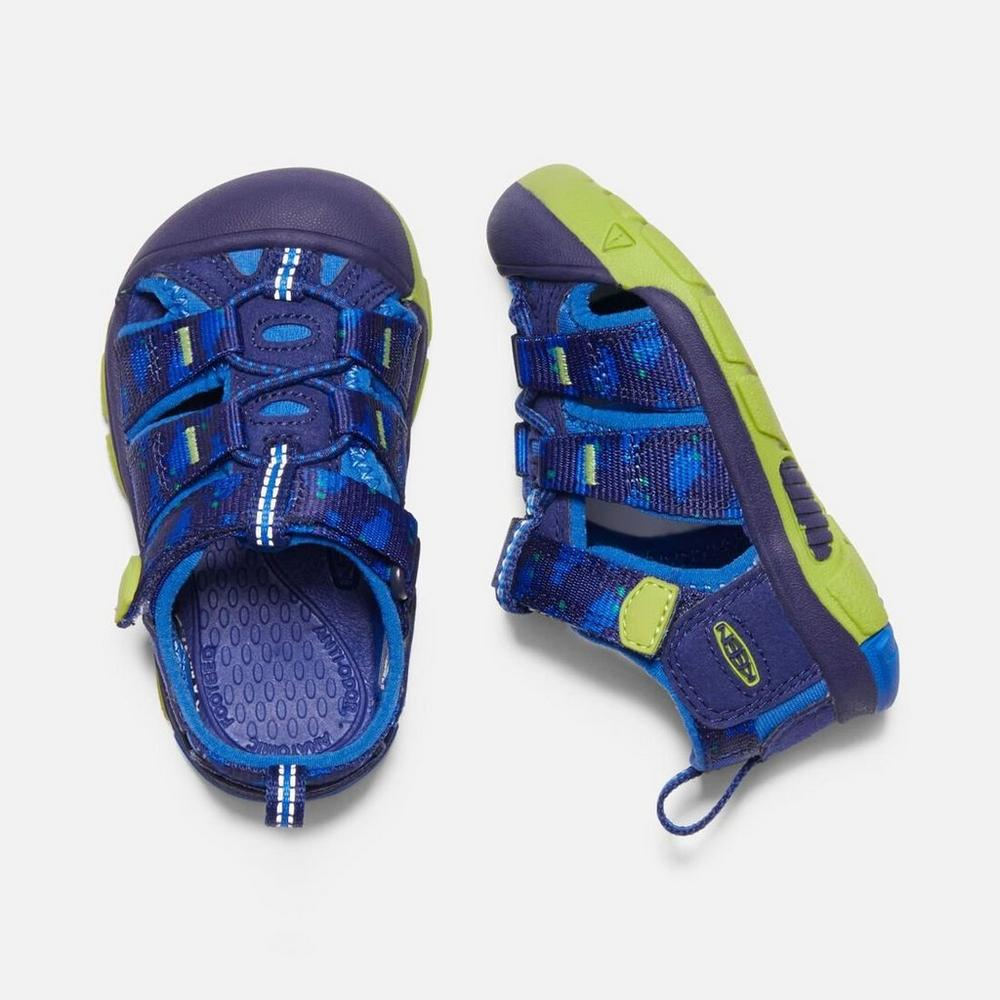 Keen Kids' Newport H2 Tots- Blue Depths/ Chartreuse