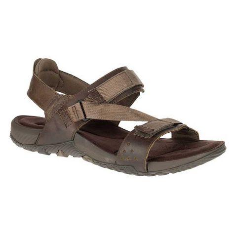 cca957a470ff Brown Merrell Men s Terrant Strap Sandals ...