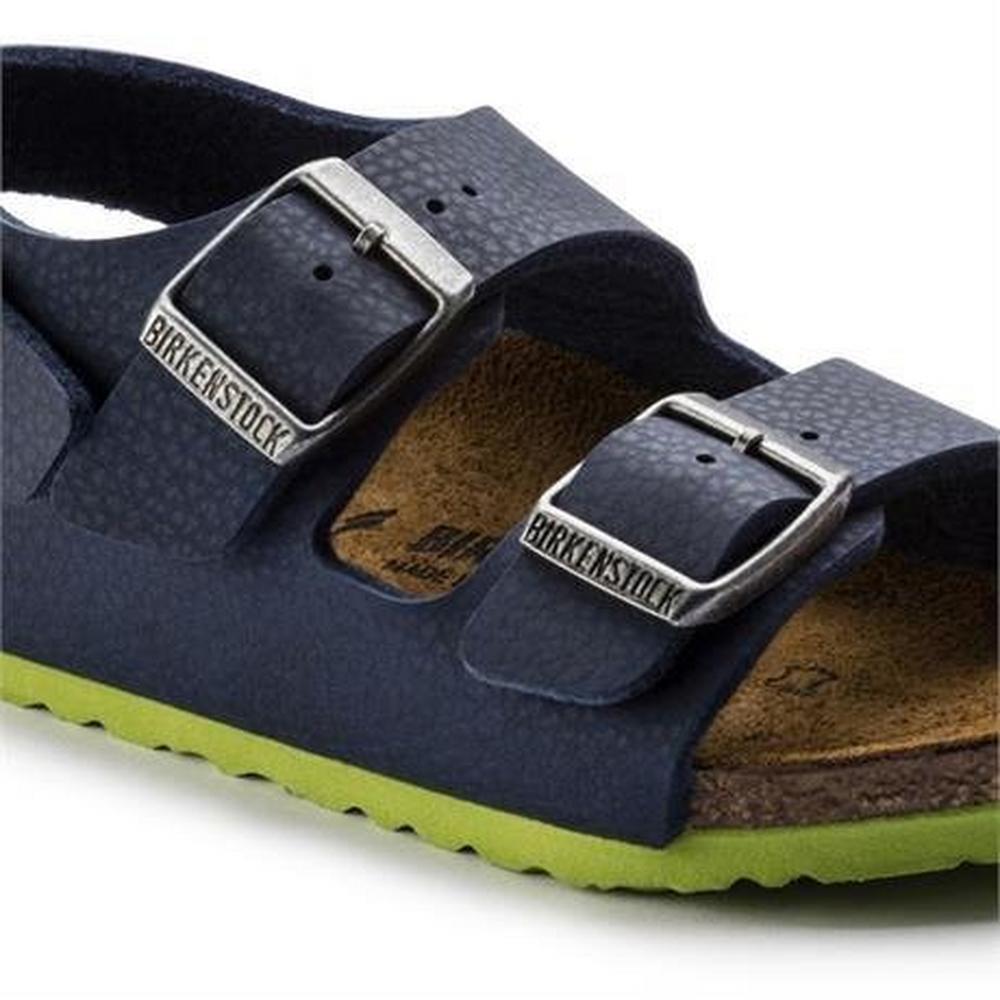 Birkenstock Sandals Kid's Milano Desert Soil Blue