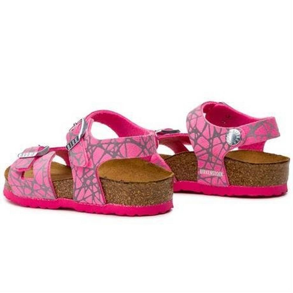 Birkenstock Kids' Kid's Rio Pink Reflective Sandal