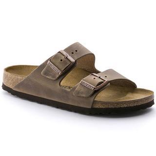 Sandals Arizona Slim Fit Oiled Leather Tobacco Brown