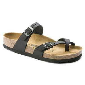 Sandals Women's Mayari Regular Black/Oiled Leather