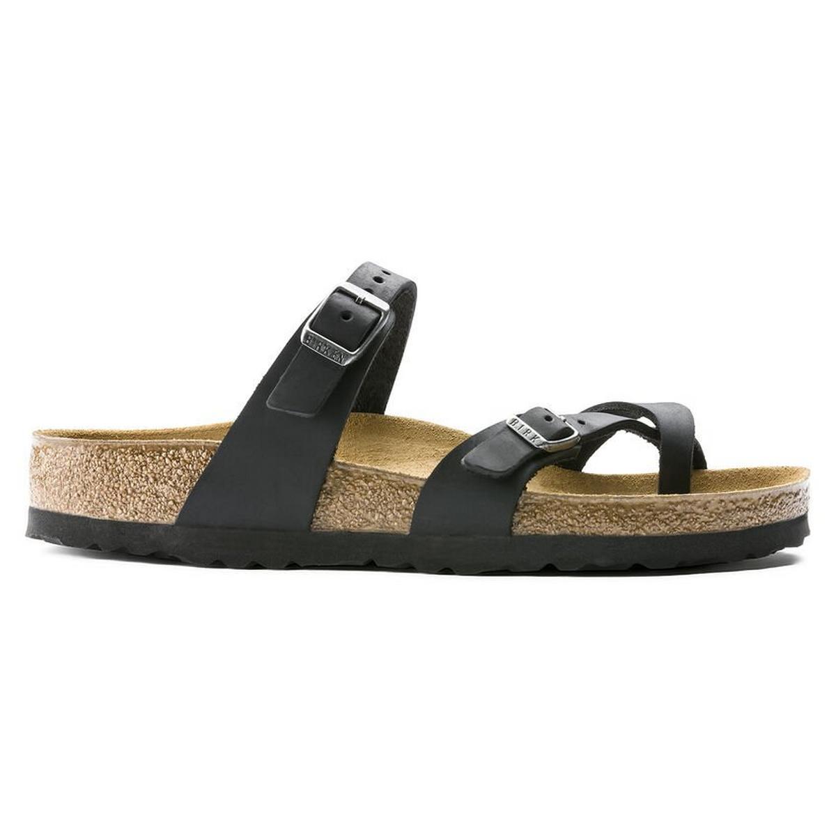 Birkenstock Sandals Women's Mayari Regular Black/Oiled Leather