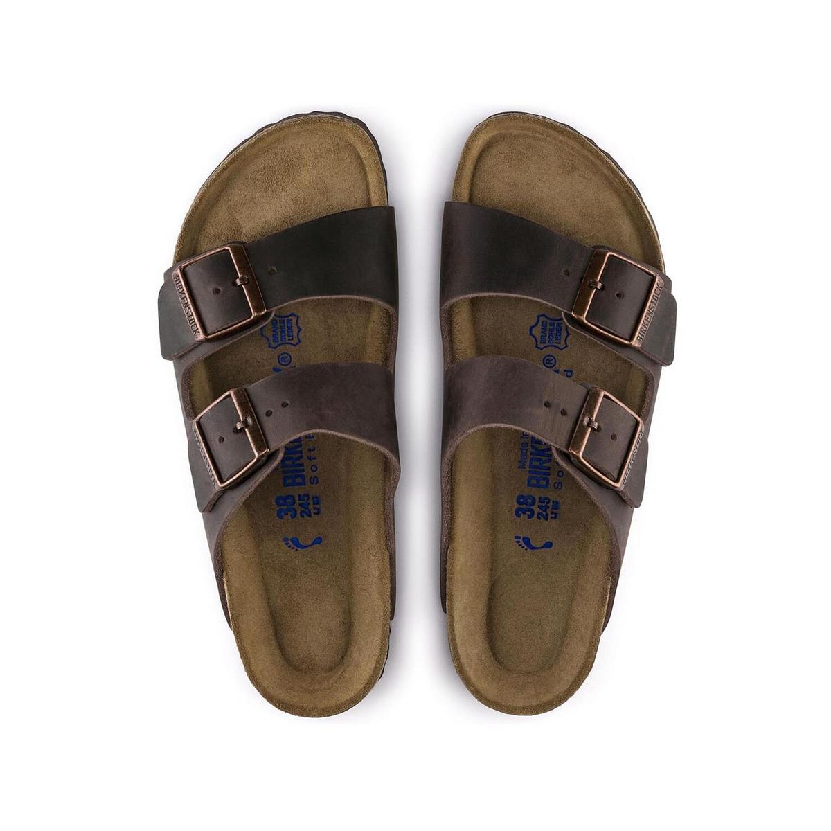 Birkenstock Unisex Arizona Oiled Leather Slim - Brown