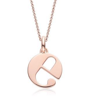 Rose Gold-Plated Alphabet Pendant A-Z