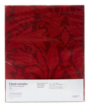 Merton Sunflower Claret Ready Made Curtain Set 167cm x 137cm