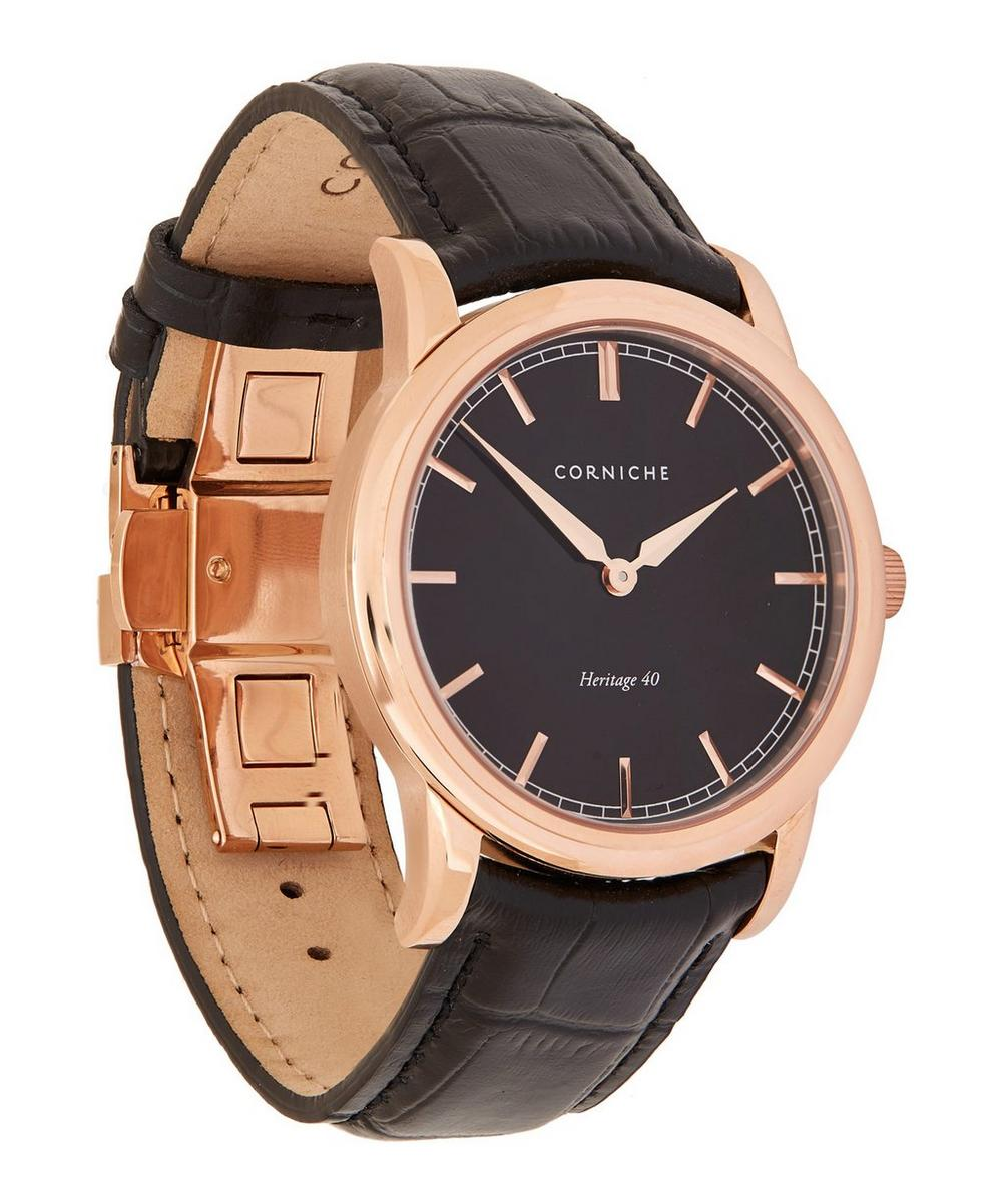 Rose Gold Heritage 40 Black Dial Watch