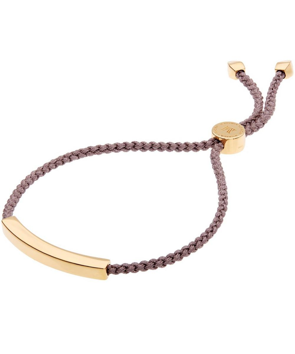 Gold-Plated Linear Friendship Cord Bracelet