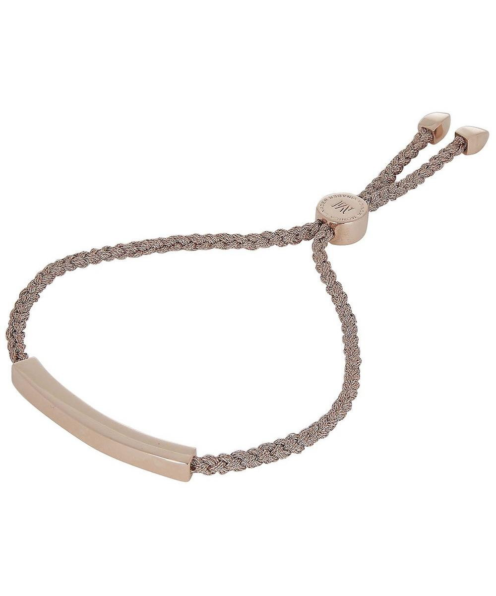 Rose Gold-Plated Linear Rose Metallica Cord Friendship Bracelet