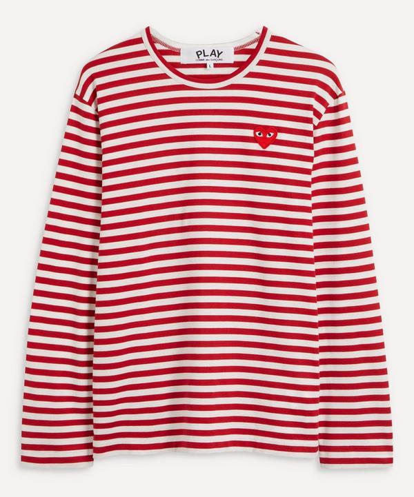 Comme des Garçons Play - Long Sleeve Stripe Cotton T-Shirt