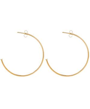 Yellow Gold Hoop Earring