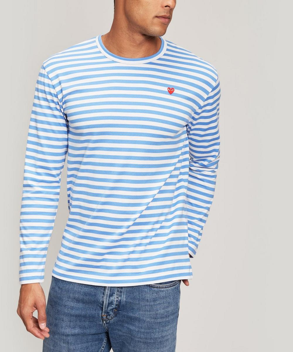 Stripe Heart Logo Long-Sleeve T-Shirt