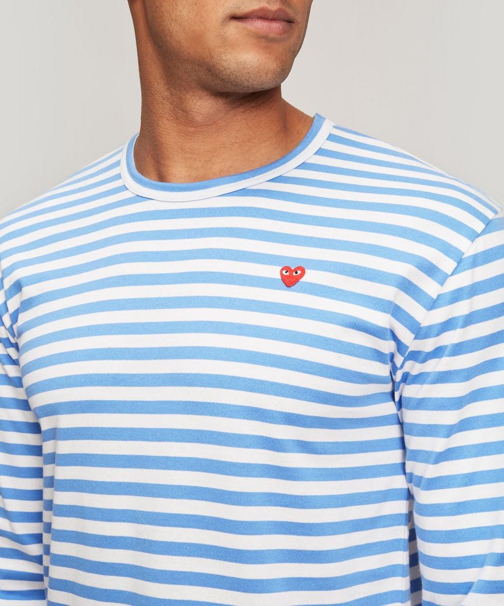 Stripe Heart Logo Long-Sleeve T-Shirt