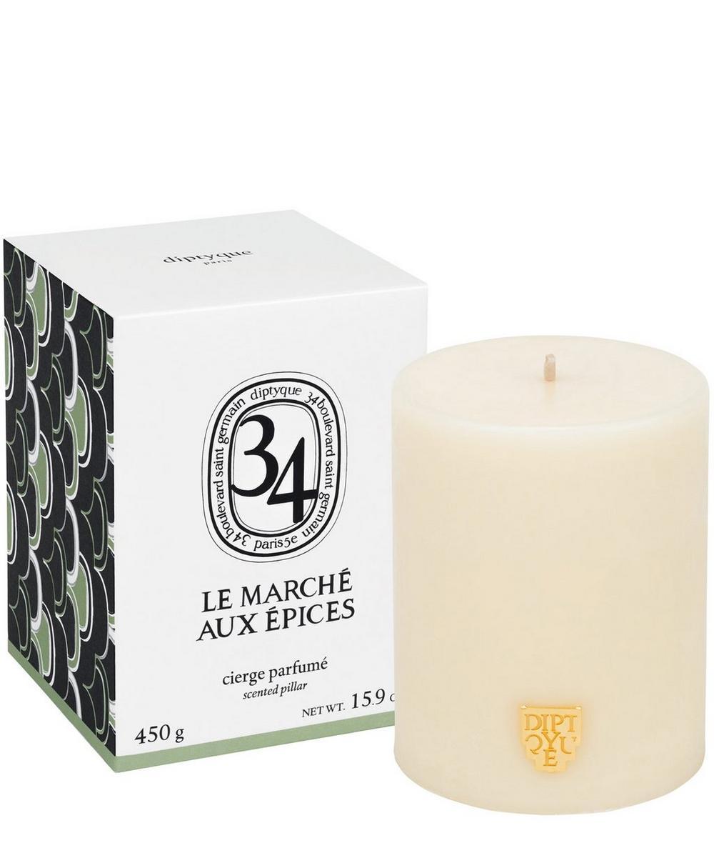 Le Marché aux Epices Scented Pillar Candle 450g