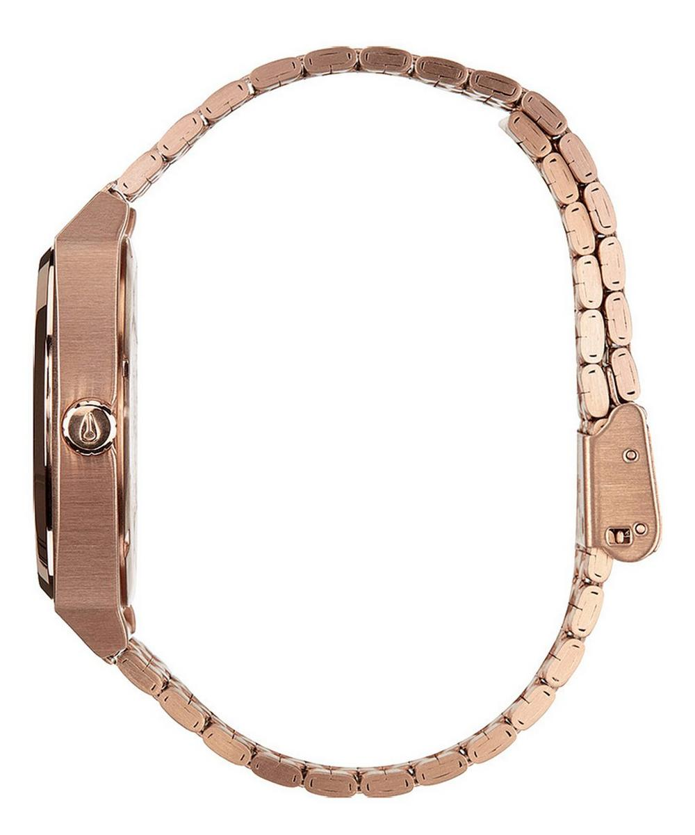Rose Gold-Tone Time Teller Stainless Steel Watch