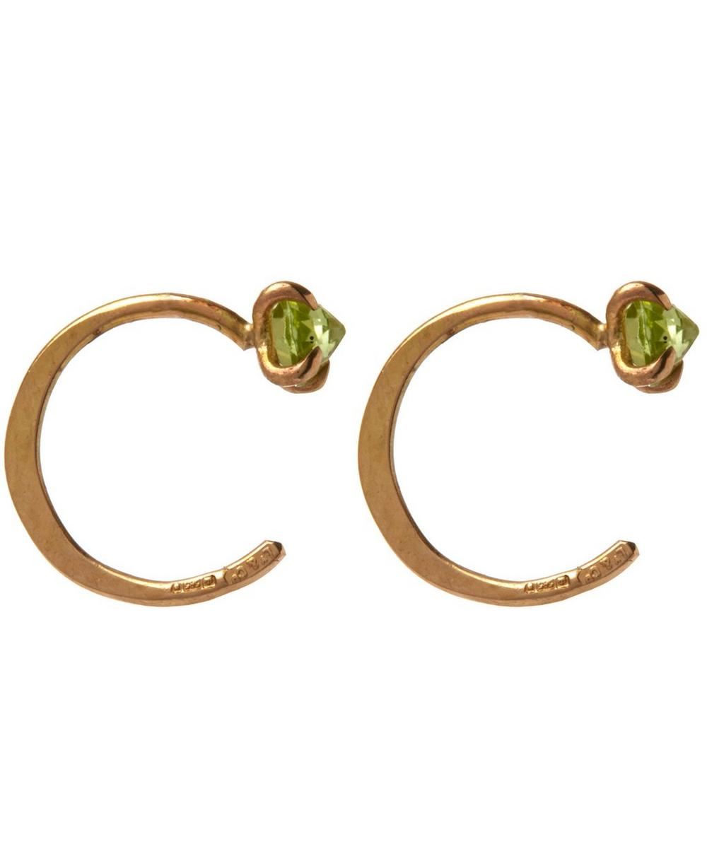 Small Peridot Hug Hoops