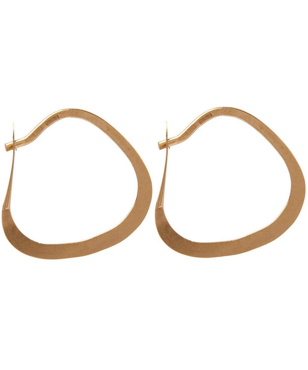 Small Triangle Hoop Earrings