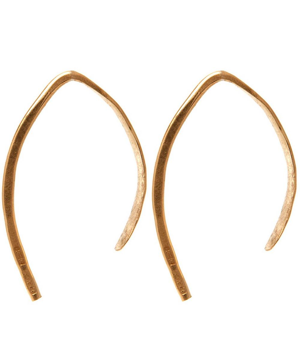 Small Wishbone Hoop Earrings