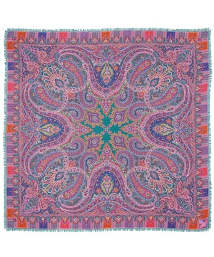 Liberty London Lasenby 140 x 140 Cashmere and Silk-Blend Paisley Scarf