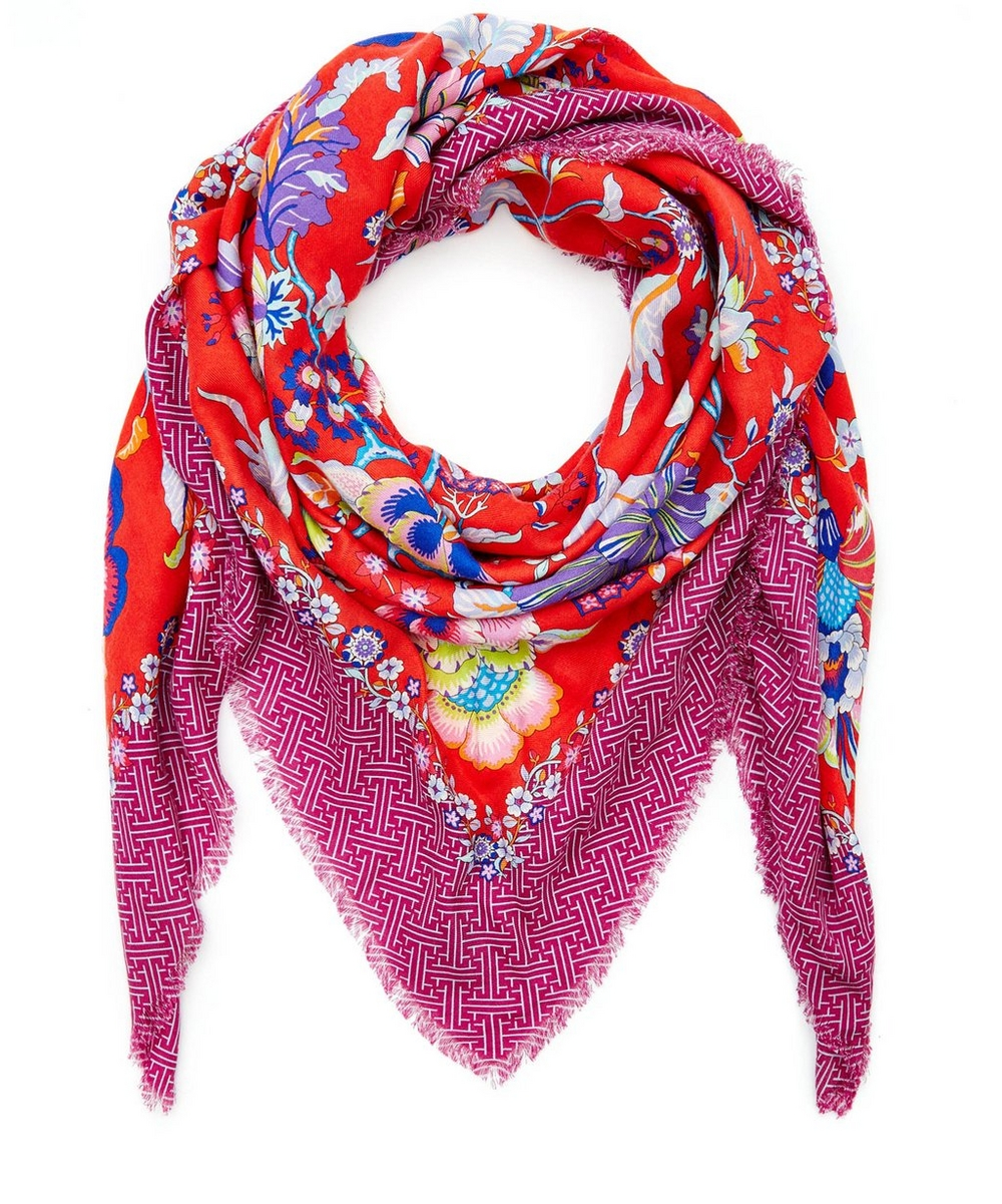 Christelle Cashmere and Silk-Blend Scarf