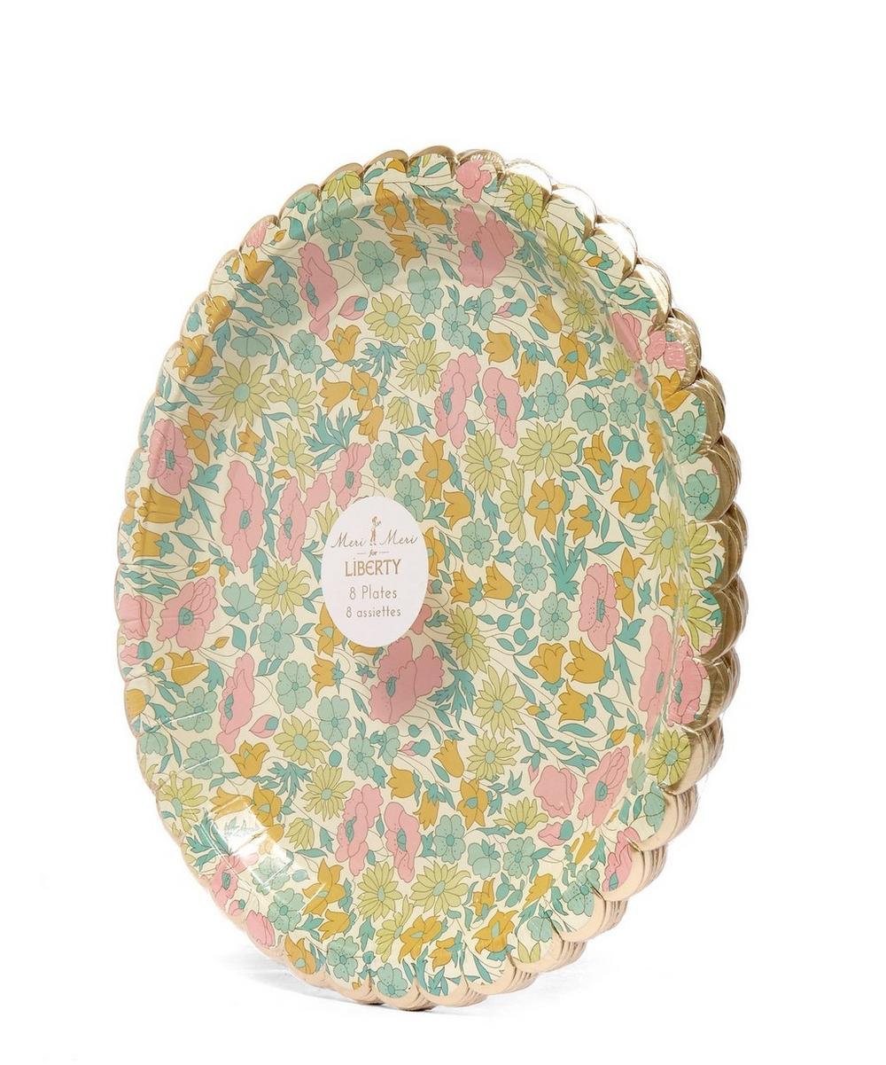 Large Poppy and Daisy Liberty Print Paper Plates | Liberty London