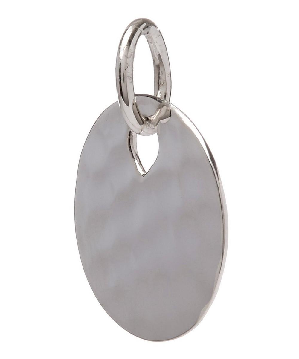 Silver Ziggy Round Pendant