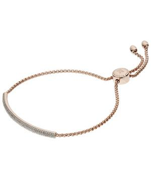 Rose Gold-Plated Stellar Diamond Mini Bar Bracelet