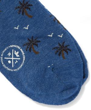 Palm Tree Print Socks