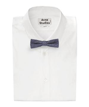 Rattan Wave Bow Tie