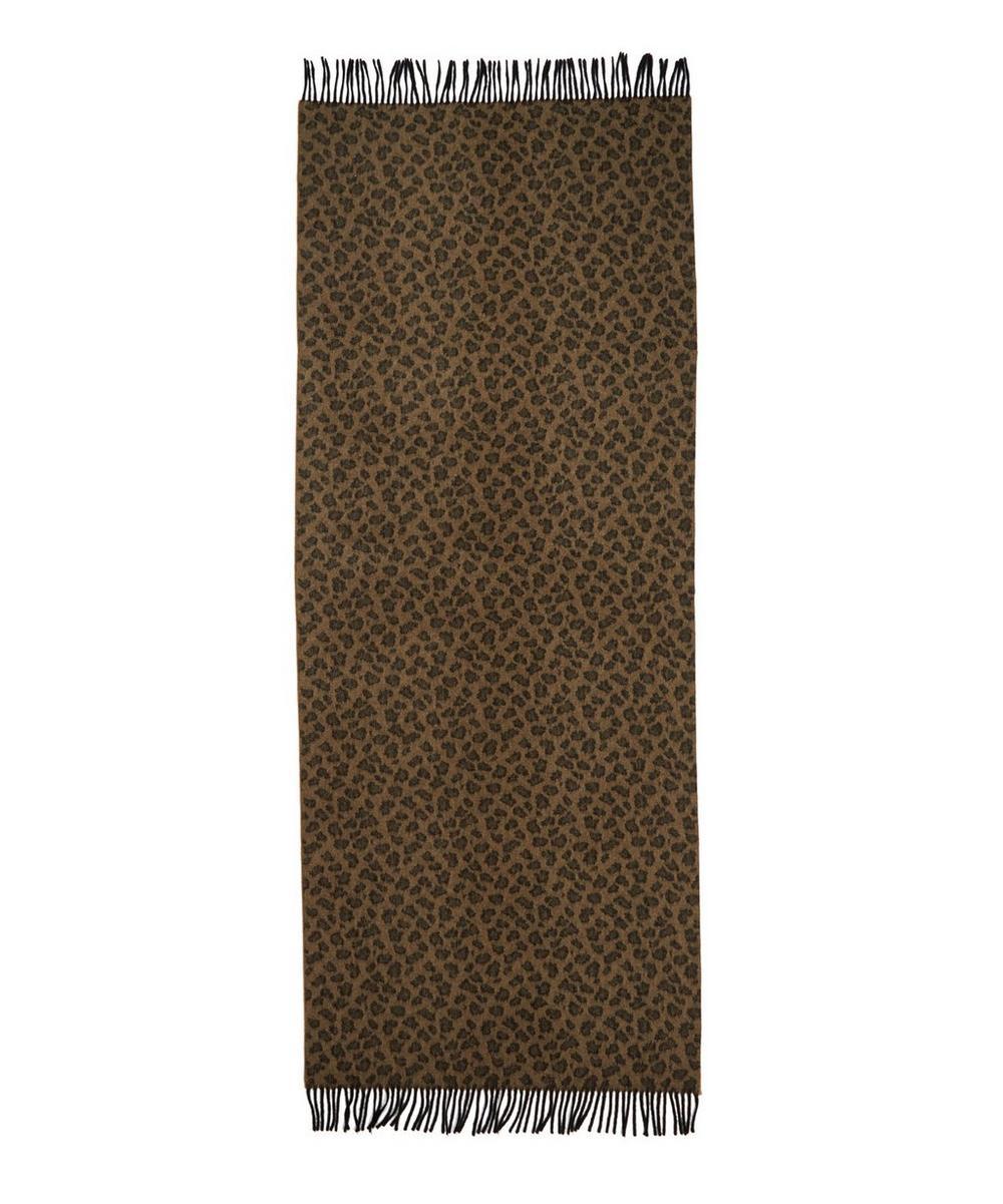 Leopard Wool Shawl