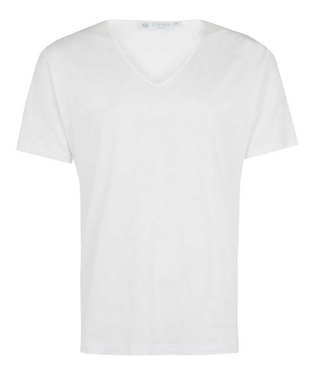 b2d7a477d251 Superfine Low V-Neck Underwear T-Shirt | Liberty London