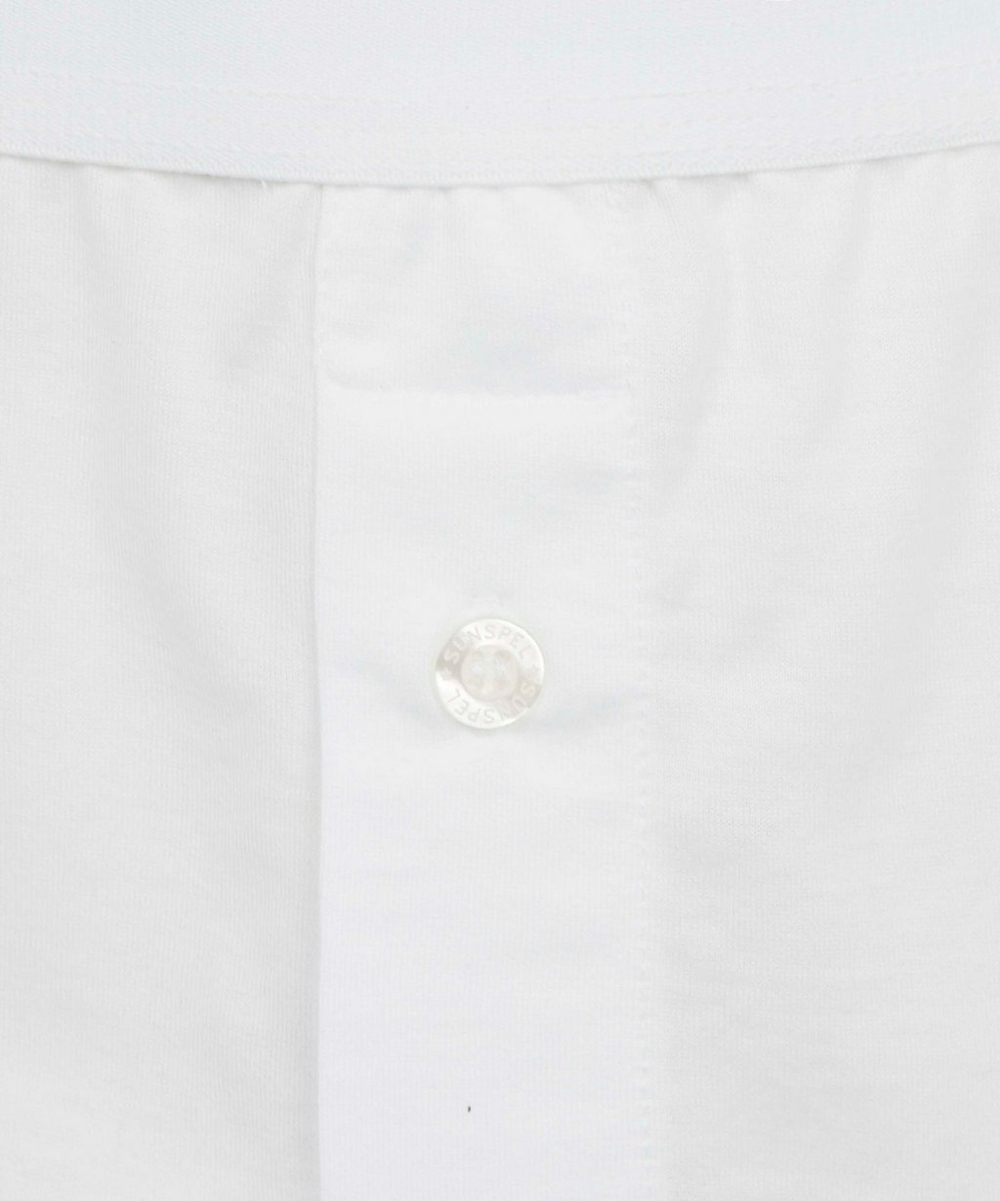 Two-Button Superfine Cotton Boxer