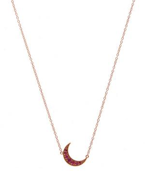 Mini Rose Gold Crescent Moon Necklace