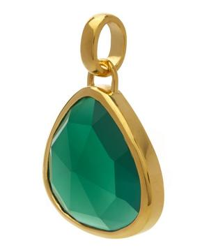 Gold-Plated Green Onyx Siren Pendant