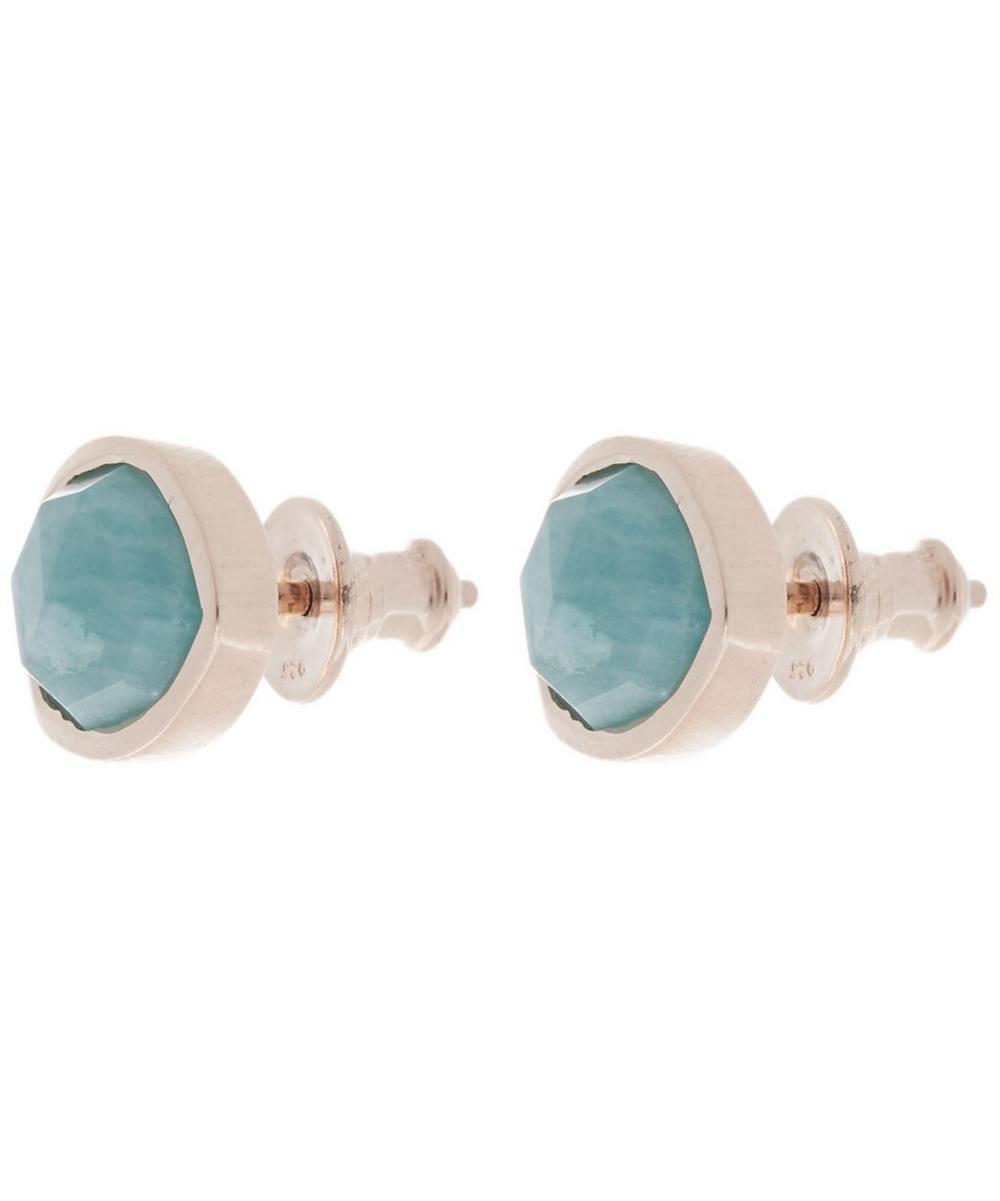 Rose Gold Vermeil Siren Amazonite Stud Earrings