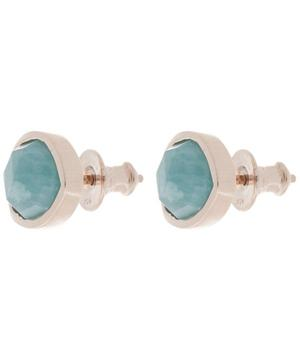 Rose Gold-Plated Amazonite Siren Stud Earrings