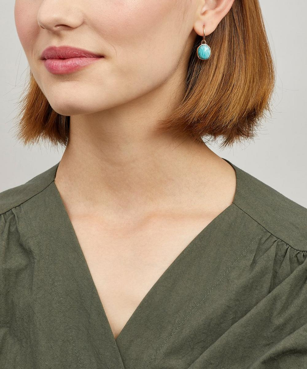 Rose Gold-Plated Amazonite Siren Wire Earrings