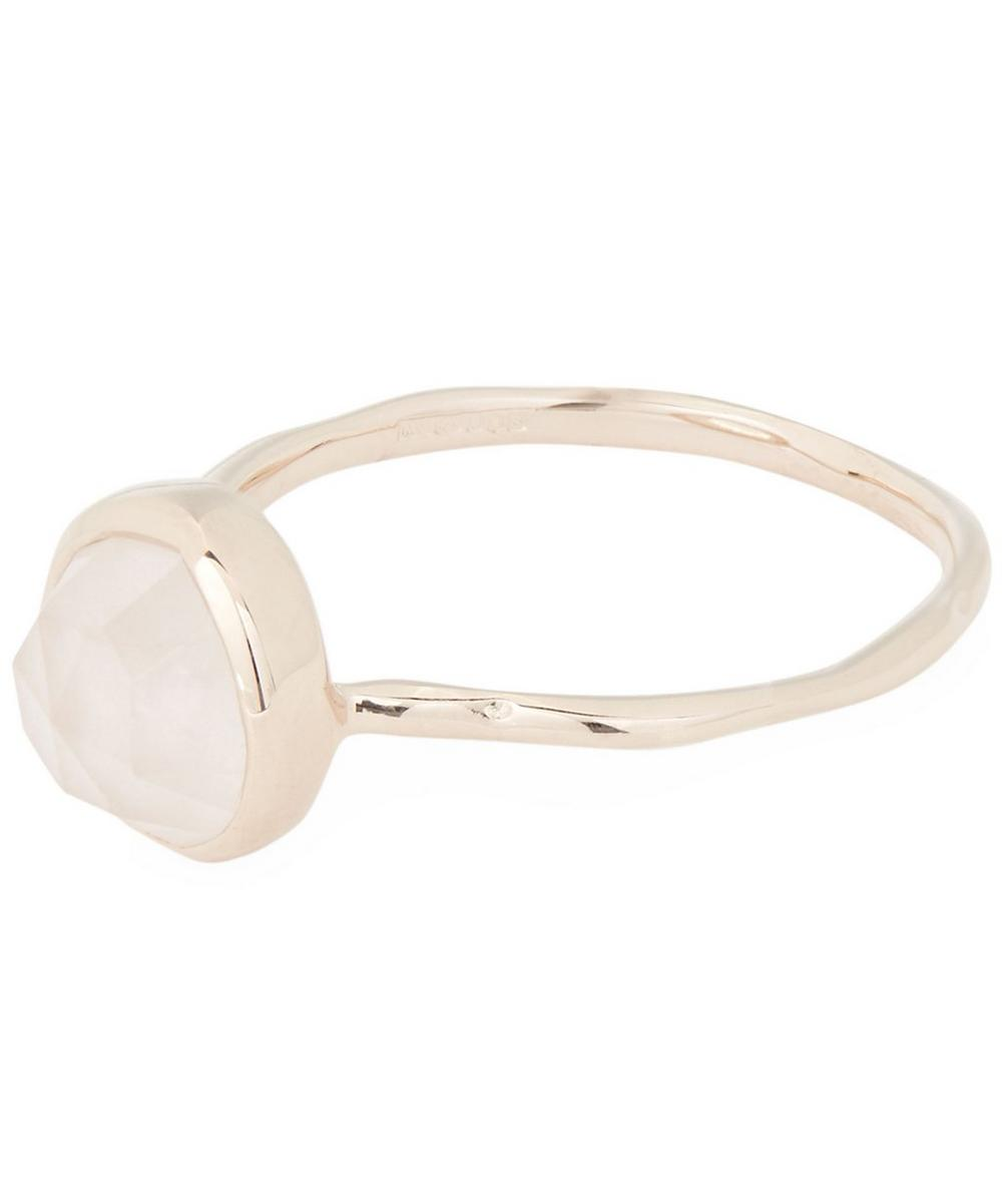Rose Gold-Plated Rose Quartz Siren Stacking Ring