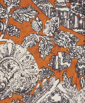 Emerald and Rose Cotton Linen in Janson Orange