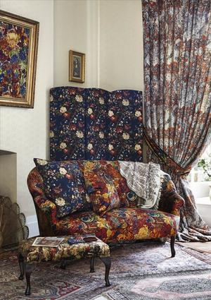 Lady Kristina Silk Linen in Art House Blue